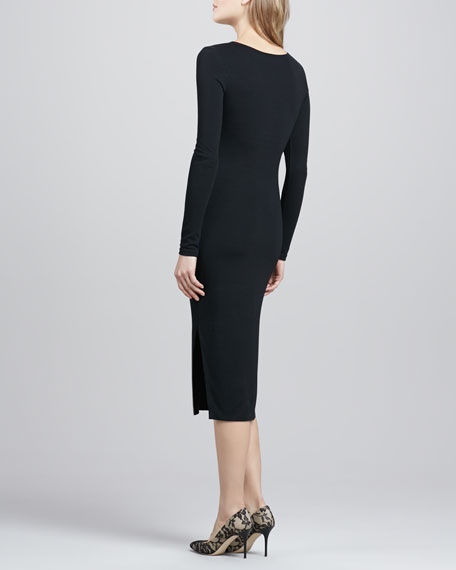 Dreamy Days Long-Sleeve Dress, Black