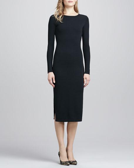 Dreamy Days Long-Sleeve Dress, Black