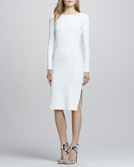 Dreamy Days Long-Sleeve Dress, White