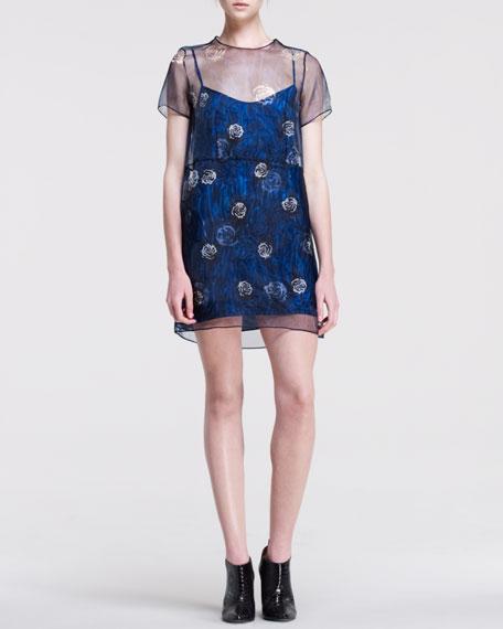 Natasha Printed Organza Dress