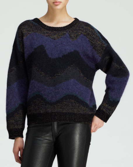 Goddess Striped Jacquard Sweater