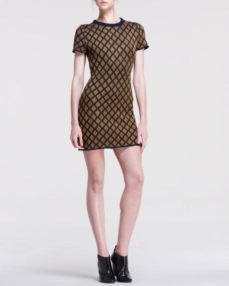 Stardust Contrast-Pattern Dress