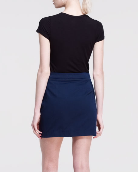Crave Mix-Fabric Skirt