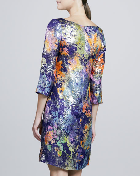Painterly Printed Tunic Cocktail Dress