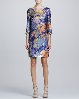 Kalinka Painterly Printed Tunic Cocktail Dress