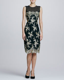 Kalinka Sleeveless Lace Cocktail Dress