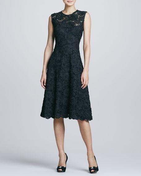 Sleeves Lace Full Skirt Dress