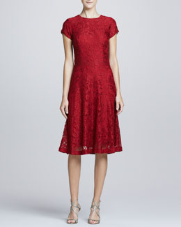 Kalinka Lace Cap-Sleeve Cocktail Dress