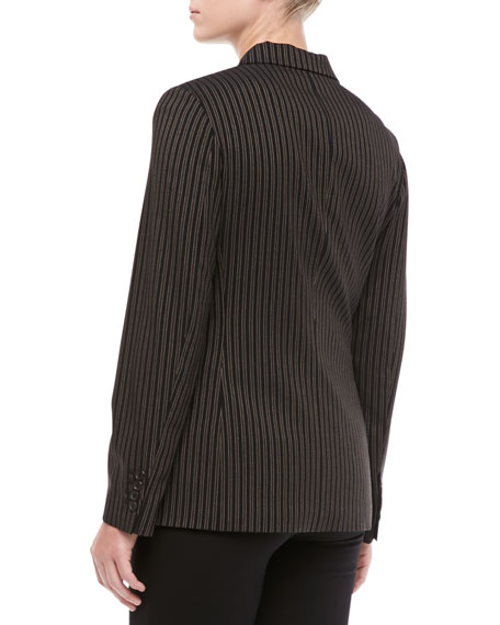 Morning Striped Wool Three-Button Jacket