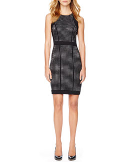 MICHAEL Michael Kors Studded Fitted Dress