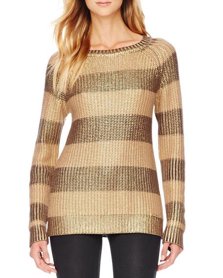 Metallic Striped Sweater
