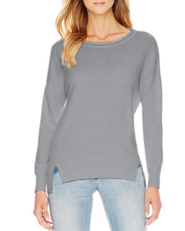 MICHAEL Michael Kors  Long-Sleeve Drop-Shoulder Cashmere Sweater