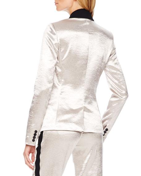 Shiny Tuxedo Blazer