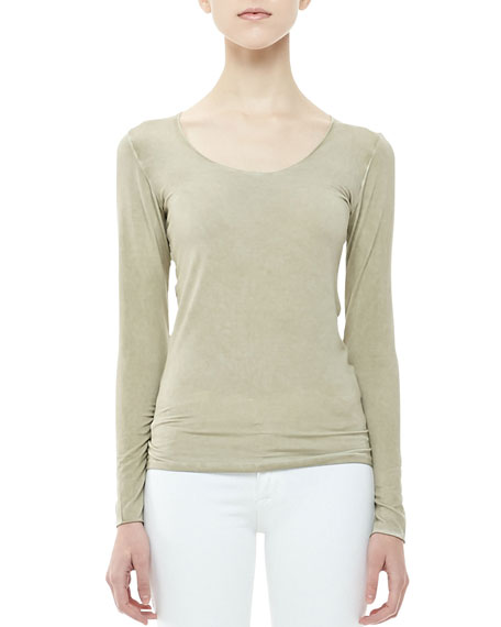 Feather-Weight Scoop-Neck Top