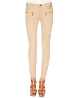MICHAEL Michael Kors  Bi-Stretch Moto Pants