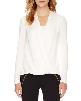 MICHAEL Michael Kors  Cross-Front Top
