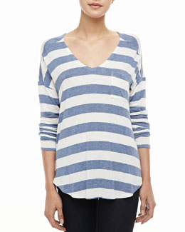 Splendid Lux Striped Pocket Tee