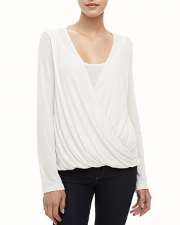 Splendid Draped Cross-Front Top