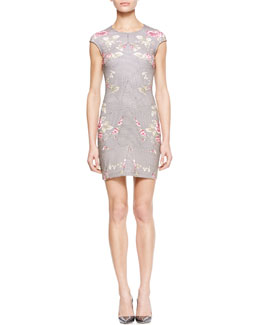 McQ Alexander McQueen Paneled Rose-Print Dress