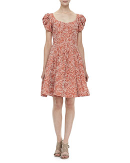 Zac Posen Floral-Print Party Dress