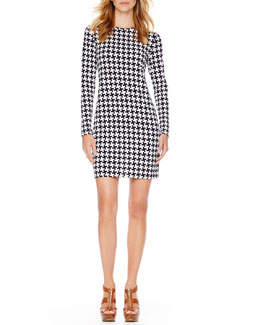 MICHAEL Michael Kors Printed Fitted Dress