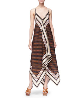MICHAEL Michael Kors  Printed Sleeveless Scarf Dress