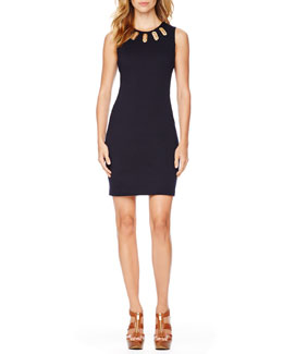 MICHAEL Michael Kors  Oval-Grommet Knit Dress