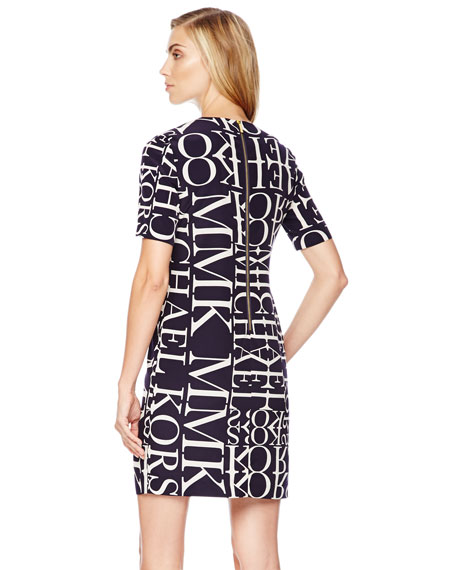 Logo-Letter Knit Dress