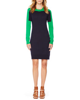 MICHAEL Michael Kors  Two-Tone Knit Dress