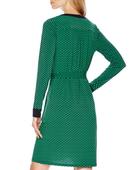 Brentwood Printed Chain-Neck Shirtdress
