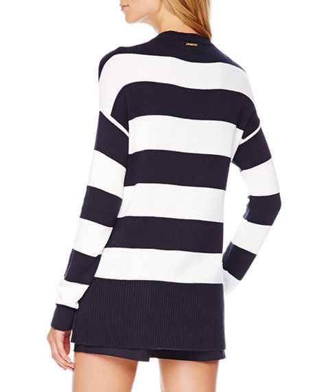 Striped High-Low Sweater