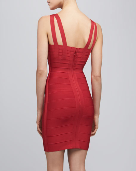 Split-Strap Bandage Dress