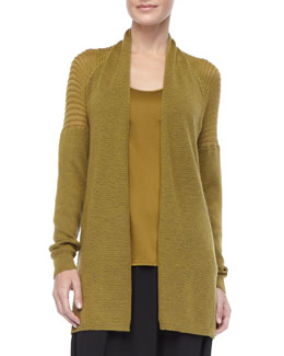 Eileen Fisher Merino Wool Mesh Cardigan