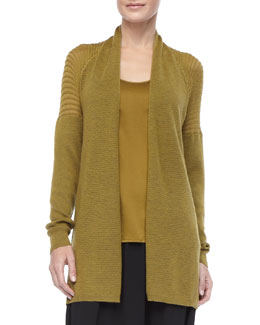 Eileen Fisher Merino Wool Mesh Cardigan, Women's