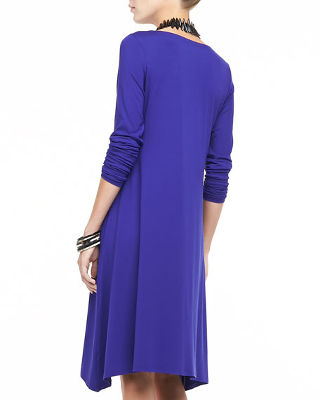 Scoop-Neck Jersey Dress
