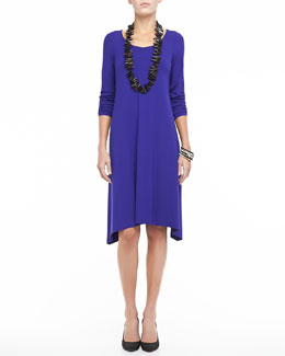 Eileen Fisher Scoop-Neck Jersey Dress