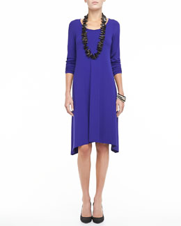 Eileen Fisher Scoop-Neck Jersey Dress, Petite