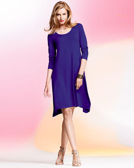 Scoop-Neck Jersey Dress, Women's