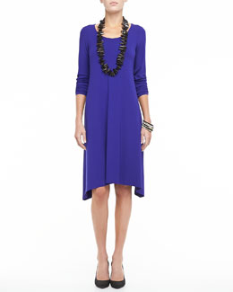 Eileen Fisher Scoop-Neck Jersey Dress, Women's