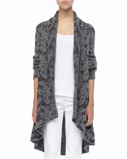 Eileen Fisher High-Low Ruffled Cardigan, Petite