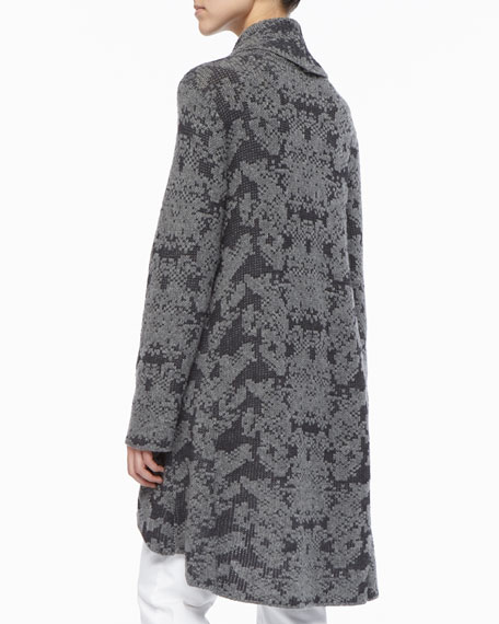 High-Low Ruffled Cardigan, Women's