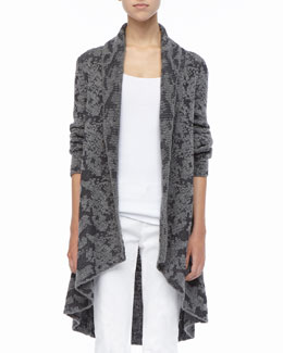 Eileen Fisher High-Low Ruffled Cardigan, Women's