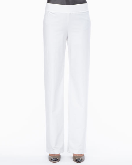 Eileen Fisher Modern Wide-Leg Pants, Petite