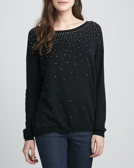 Aleesa Studded Knit Sweater
