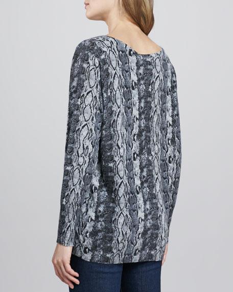 Cienna Python-Print Sweater