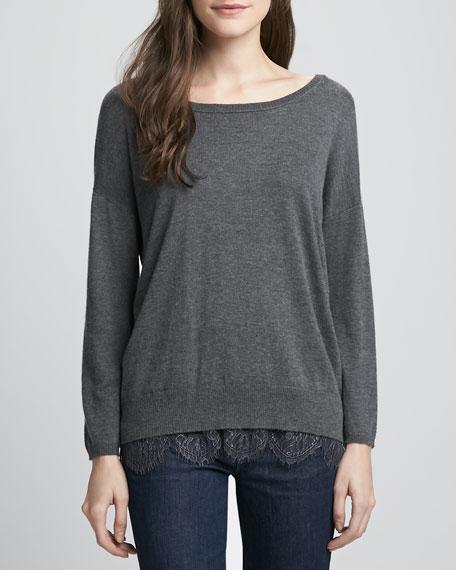 Hilano Lace-Hem Sweater