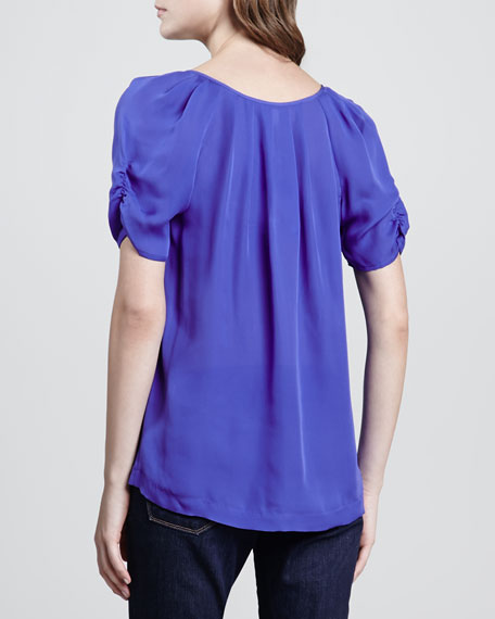 Terabithia Puff-Sleeve Blouse