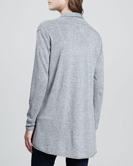 Wren Long-Sleeve Cardigan, Heather Gray