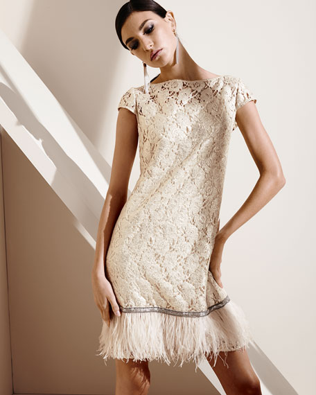 Ostrich Feather Cocktail Dress