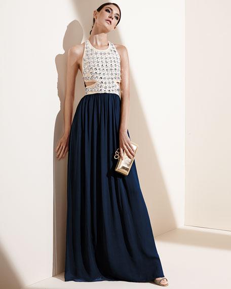 Gidget Crystal Stud Long Dress